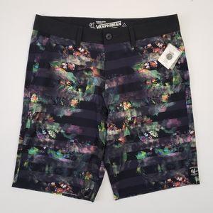 Vans Swim Board Shorts Black Floral 32